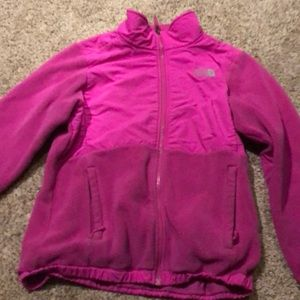 Bright pink north face
